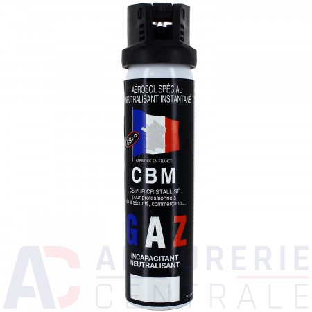 Bombe de défense CBM CS gaz - 75 ml
