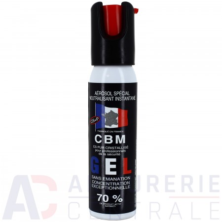 Bombe de défense CBM CS gel - 25 ml