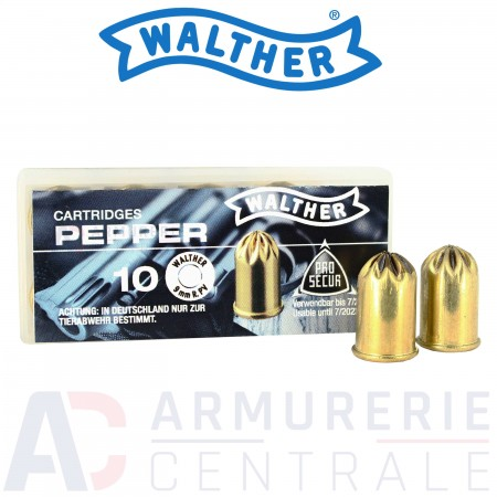 Cartouches Walther Pepper 9mm RK (Revolver)