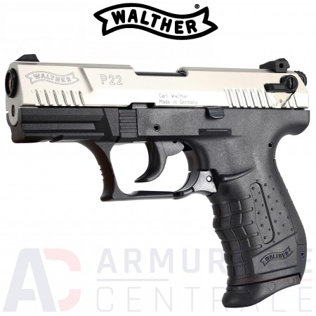 Pistolet Walther P22 Chrome - 9 mm PAK