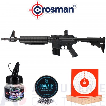 Pack carabine Crosman M4-177 4.5mm (6.5 Joules)