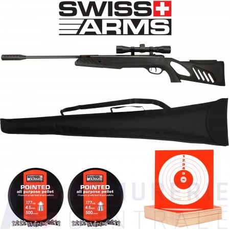 Pack Swiss-Arms Tac-1 Noire 4.5 mm (20 Joules)