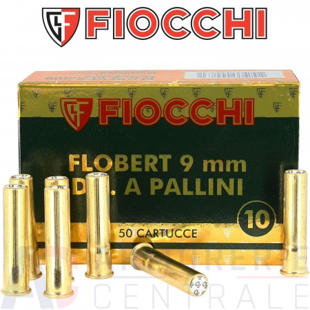 Cartouches Fiocchi 9 mm Flobert plomb n°10
