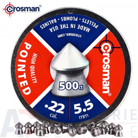 500 plombs pointus Crosman High Quality Pointed  5.5mm