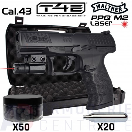 Pack Walther T4E PPQ M2 Laser .43 (5 joules)
