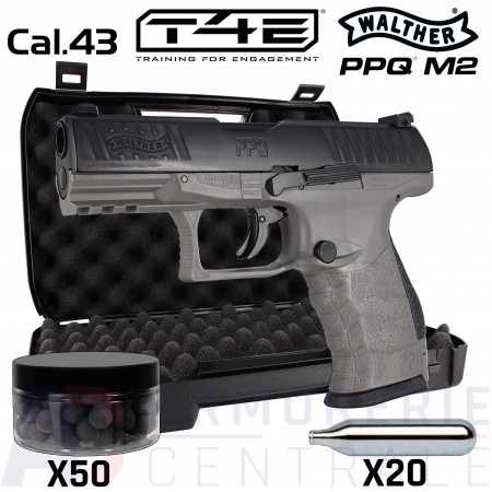 Walther PPQ M2 T4E Tungsten Gray .43 (5 Joules)