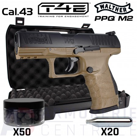 Umarex Walther PPQ M2 T4E Tan .43 (5 joules)