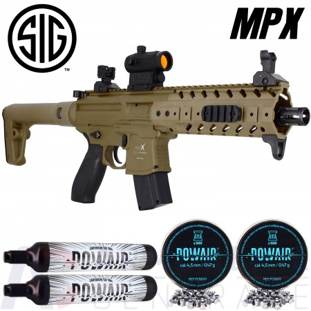 Pack Carabine Sig MPX Tan CO2 88g (6.7 joules)