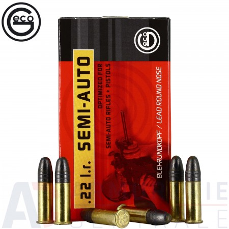 50 munitions Geco Semi-Auto 40 grains 22LR