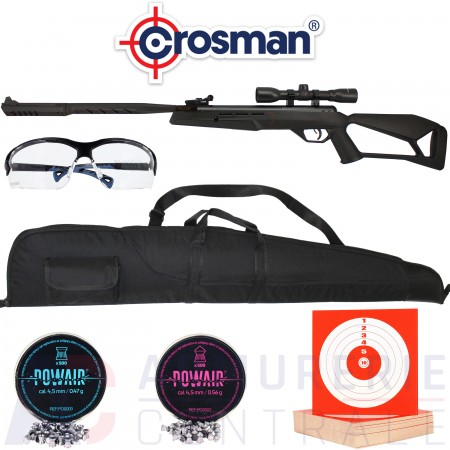 Pack Crosman carabine Trasher 4.5 mm (20 joules)