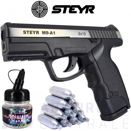 Pack pistolet STEYR M9-A1 Dual tone 4.5mm BB's...