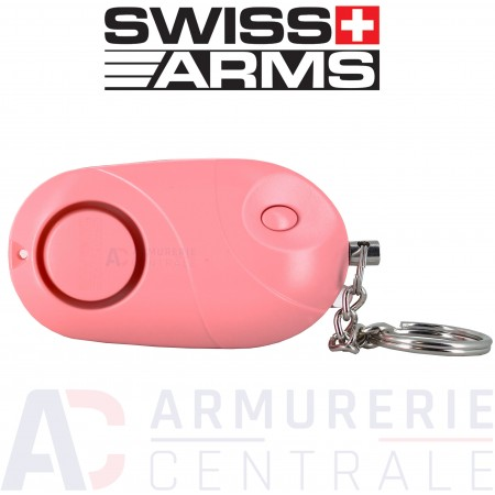 Alarme Porte-clé Swiss-Arms rose (130 db)
