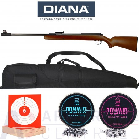 Pack carabine Diana 34 Classic T06 4.5mm (20 Joules)