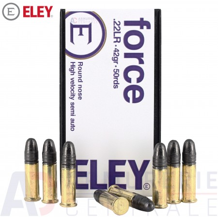 50 cartouches 22 LR ELEY Force (Hight Velocity)