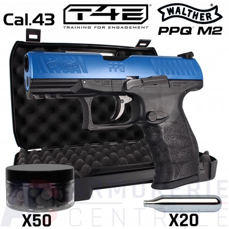 Pack Walther PPQ M2 T4E Bleu CO2 .43 (5 Joules)