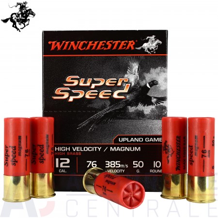 10 Cartouches Winchester Super Speed 12/70