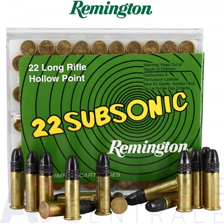 100 Cartouches Subsonic Remington .22lr