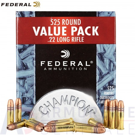 525 cartouches Federal Champion .22 LR HV
