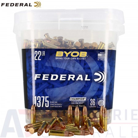 1375 cartouches Federal Byob 22lr 36gr