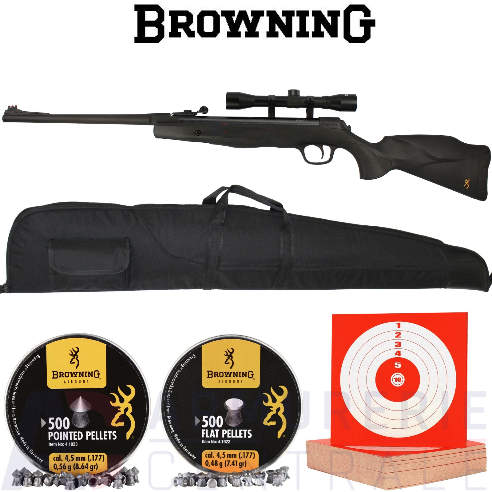 Pack Browning X-Blade II (2) 4.5mm (20 Joules)