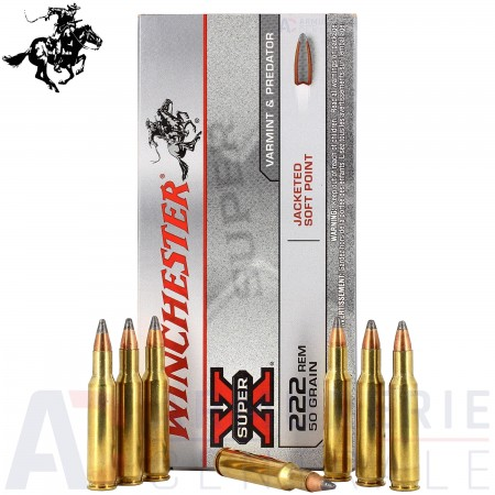 20 Winchester Super X .222 Jacketed soft point 50...