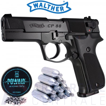 Pistolet Walther CP88 noir 4,5mm (3,5 Joules)