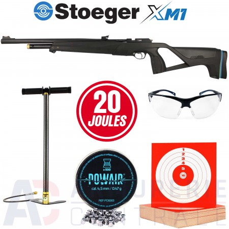 Pack Stoeger XM1 PCP + Pompe HP 4.5mm (20 joules)